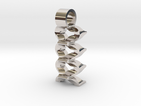 Virtual waves [pendant] in Rhodium Plated Brass