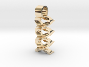 Virtual waves [pendant] in 14k Gold Plated Brass