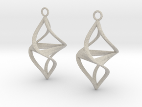 Twister earrings in Natural Sandstone