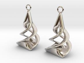 Twist earrings in Rhodium Plated Brass