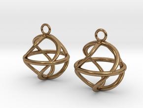 Twist ball earrings in Natural Brass