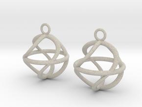 Twist ball earrings in Natural Sandstone