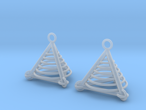 Pyramid triangle earrings serie 3 type 7 in Smooth Fine Detail Plastic
