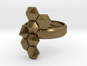 Hex Cluster Ring in Natural Bronze