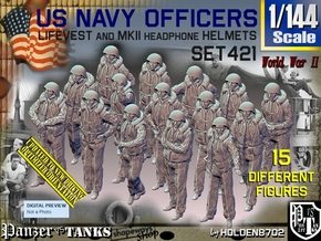 1/144 USN Officers Kapok Set421 in Smooth Fine Detail Plastic