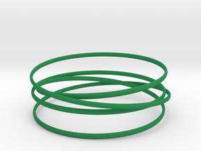 Multispire floating bracelet in Green Processed Versatile Plastic: Small