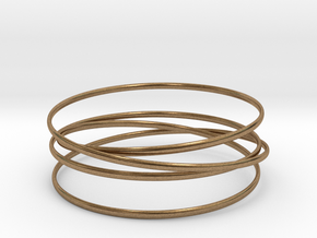 Multispire floating bracelet in Natural Brass (Interlocking Parts): Small
