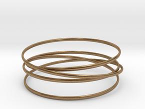 Multispire floating bracelet in Interlocking Raw Brass: Small