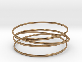 Multispire floating bracelet in Interlocking Polished Brass: Small