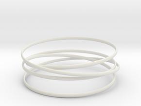 Multispire floating bracelet in White Natural Versatile Plastic: Large