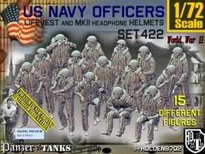 1/72 USN Officers Kapok Set422 in Smooth Fine Detail Plastic