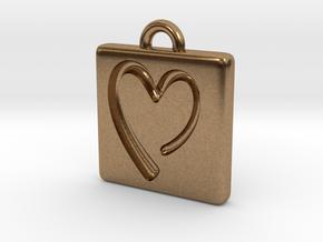 heartPendant in Natural Brass