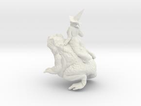 Gripau De Les Bruixes Del Nord Sabadell 1:20 in White Natural Versatile Plastic: Extra Small