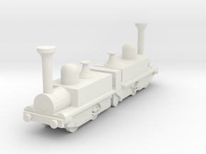Mountain Locomotive MR. G. BELL 1I100 in White Natural Versatile Plastic