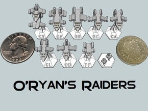 MicroFleet O'Ryan's Raiders Sampler (9pcs) in Smooth Fine Detail Plastic