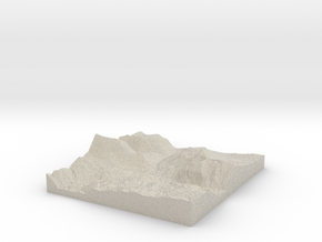 Model of Collawash River in Natural Sandstone