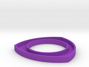 171124 Pup Triangle Bangle Large in Purple Strong & Flexible Polished
