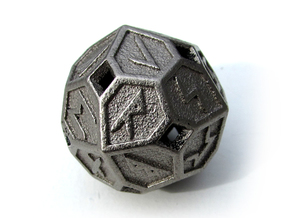 Elder Futhark Die24 in Polished Nickel Steel