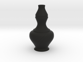 Labu Sayong Vase in Black Natural Versatile Plastic