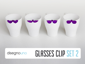 Party Accessories | Glasses (4 pz) in Purple Processed Versatile Plastic