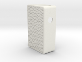 22mm Wave Squonker Body (18650) in White Natural Versatile Plastic