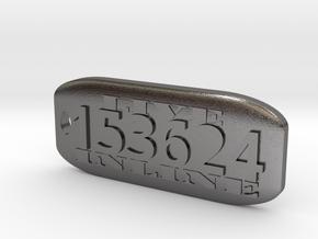 Inline 6 Key Fob in Polished Nickel Steel
