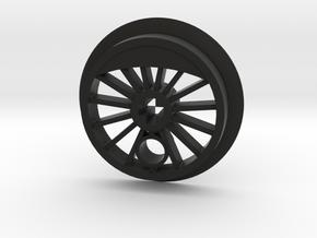 ML Driver 15 Spoke Flanged in Black Premium Versatile Plastic