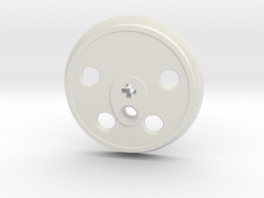 XXL Disc Driver - Large Counterweight in White Natural Versatile Plastic