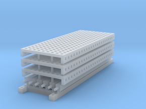 1/64 3 High 10ft Pallet Rack Mesh Extension in Frosted Ultra Detail