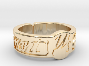 Moment Ring - Love Live in 14K Yellow Gold
