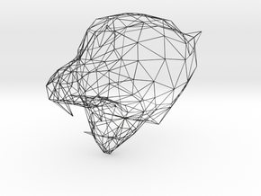 Wireframe Tiger Face in Black Premium Strong & Flexible