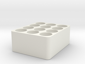 Battery Tray for 18650 Cells in White Natural Versatile Plastic