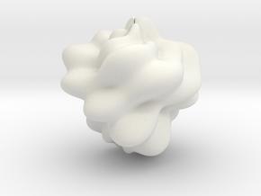 FM Sphere 1 in White Premium Versatile Plastic