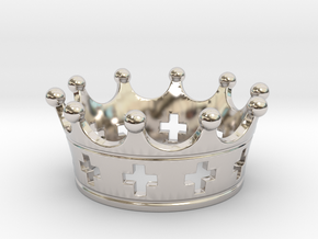 Celtic crown in Rhodium Plated Brass