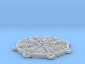 Dual-Sided Norse Medallion in Smooth Fine Detail Plastic