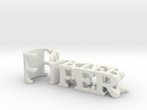 3dWordFlip: Piper/Carter in White Natural Versatile Plastic