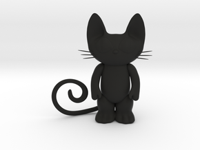 cat art 6 inches in Black Natural Versatile Plastic
