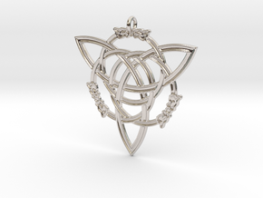 """Celtic Pendant """"Aisling""""  (ASH-ling) in Rhodium Plated Brass"""