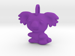 Baby Koala Pendant in Purple Processed Versatile Plastic