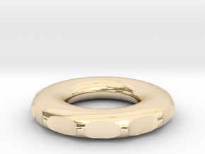 rodin coil donut circle DIY 8 cm 80mm 3.14 inch in 14K Yellow Gold