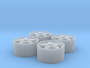 "1/24 Rim Set 18"" OZ Fittipaldi in Smoothest Fine Detail Plastic"