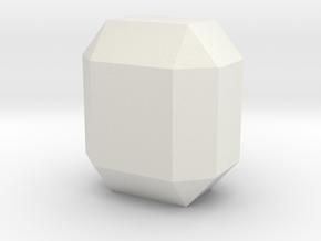 Olivine 2, 25 mm in White Natural Versatile Plastic