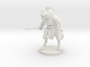 Gnoll (updated) in White Natural Versatile Plastic