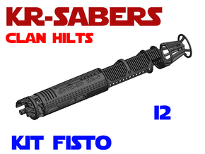 KR-S Clan Hilts - Kit Fisto - I2 Chassis in White Natural Versatile Plastic