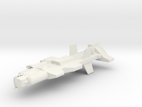 Ancient Warship in White Natural Versatile Plastic