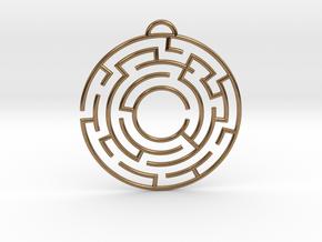 Maze Pedant in Natural Brass
