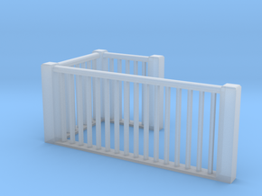 HO Scale upper railings in Smoothest Fine Detail Plastic