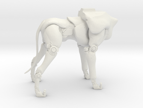 A6_Dog-Body (keyed body) (1 of 2 parts) in White Natural Versatile Plastic