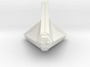 3788 Scale Tholian Disruptor-Armed Patrol Corvette in White Natural Versatile Plastic
