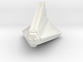 3125 Scale Tholian Disruptor-Armed Patrol Corvette in White Natural Versatile Plastic
